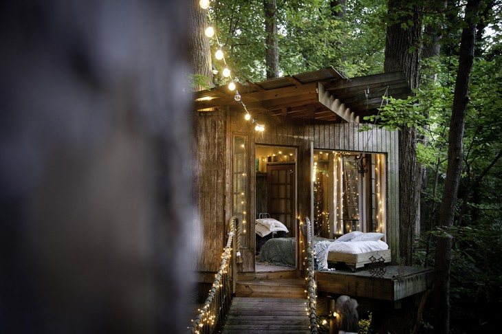 boomhut inspiratie Secluded Intown Treehouse 4